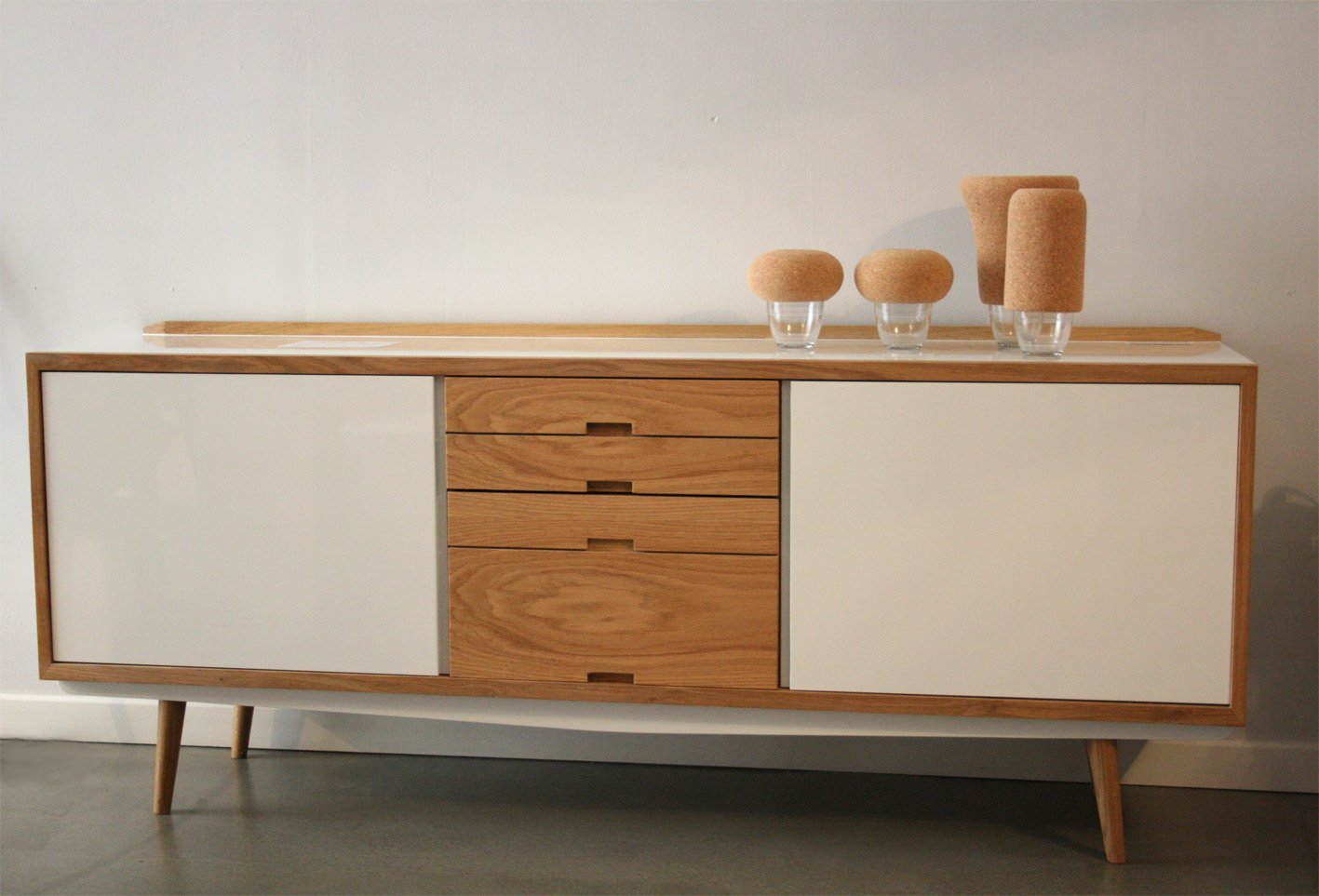Enfilade blanche boutique design - Enfilade design scandinave ...